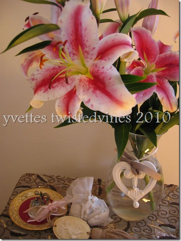 rose lilies