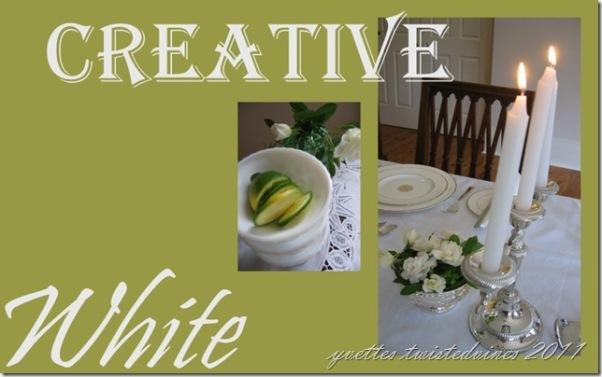 creative white collage