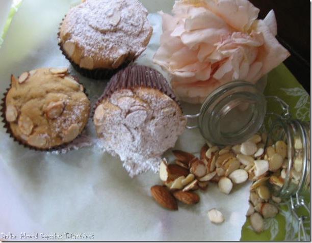 almond cupcakes 013